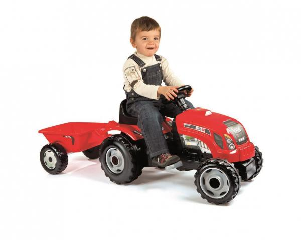Smoby Red Tractor With Trailer-0