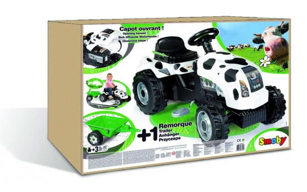 Smoby Cow Tractor Trailer -6831