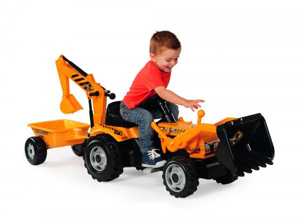 Smoby Builder Digger Ride On Pedal Tractor-6955