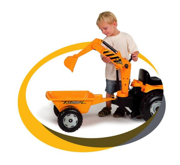 Smoby Builder Digger Ride On Pedal Tractor-6956