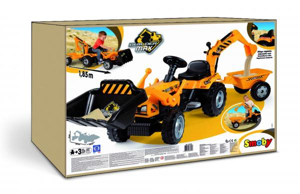 Smoby Builder Digger Ride On Pedal Tractor-6953