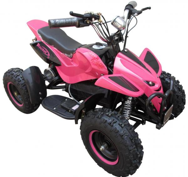 Kids Rocket Rampage Extreme 36v 1000w Electric / Battery Quad Bike Pink-0