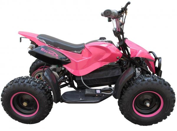 Kids Rocket Rampage Extreme 36v 1000w Electric / Battery Quad Bike Pink-7824