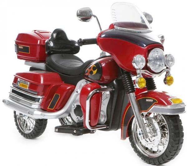 Kids Rocket Harley 12v Electric / Battery Cruiser Deluxe Ride On Motorbike - Red-3257