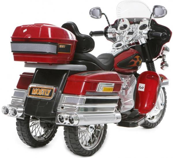 Kids Rocket Harley 12v Electric / Battery Cruiser Deluxe Ride On Motorbike - Red-3253