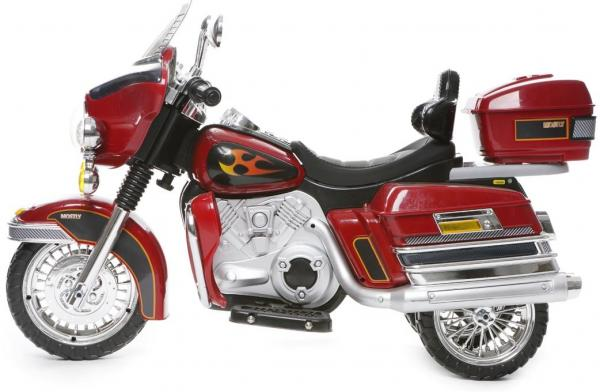 Kids Rocket Harley 12v Electric / Battery Cruiser Deluxe Ride On Motorbike - Red-3258