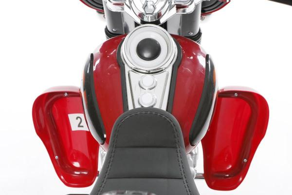 Kids Rocket Harley 12v Electric / Battery Cruiser Deluxe Ride On Motorbike - Red-3250