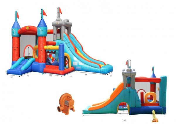 Duplay Happy Hop Inflatable 13 in 1 Medieval Knights Bouncy Castle 9021-5859