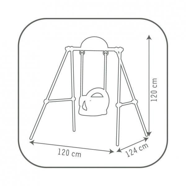 Smoby Metal Baby Swing -6881