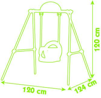 Smoby Metal Baby Swing -6880