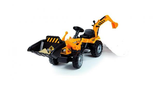 Smoby Builder Digger Ride On Pedal Tractor-6954