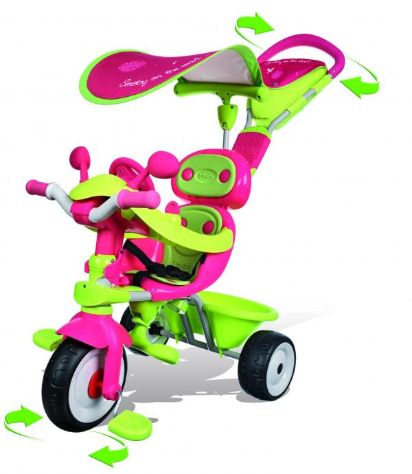Smoby Baby Driver Confort Girl Trike / Tricycle-0