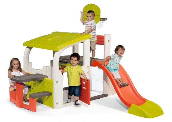 Smoby Fun Centre Playhouse with Slide-0