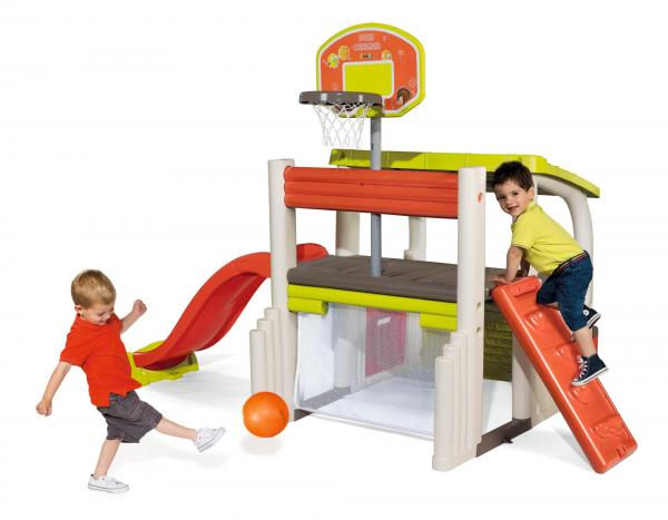 Smoby Fun Centre Playhouse with Slide-15726