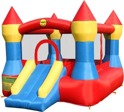 Duplay Happy Hop Inflatable Bounce 'n' Slide Turret Bouncy Castle 9017-4465