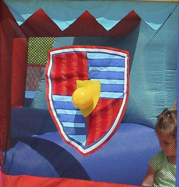Duplay Happy Hop Inflatable 13 in 1 Medieval Knights Bouncy Castle 9021-5863