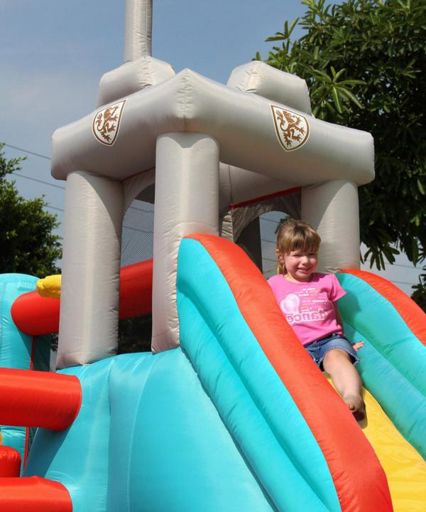 Duplay Happy Hop Inflatable 13 in 1 Medieval Knights Bouncy Castle 9021-5862