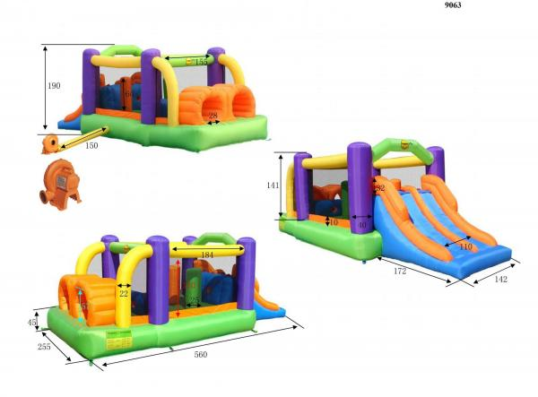 Duplay Happy Hop Inflatable Obstacle Course Bouncy Castle 9063-4518