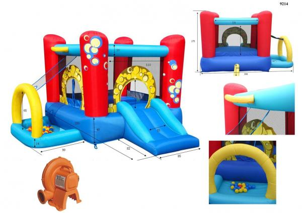 Duplay Happy Hop Children's Inflatable Bubble 4 in 1 Bouncy Castle 9214-4344