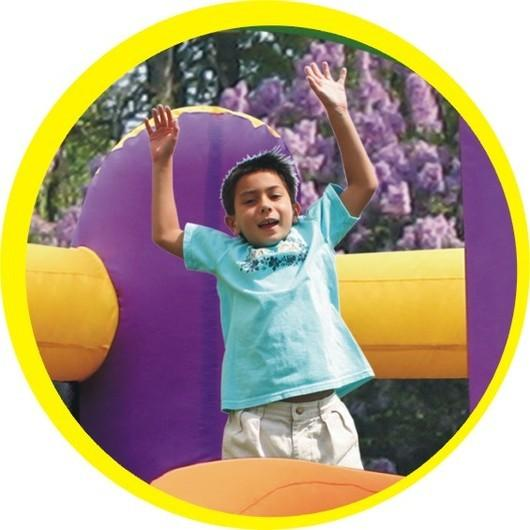 Duplay Happy Hop Children's Inflatable Combo Party Bouncy Castle 9236-4353