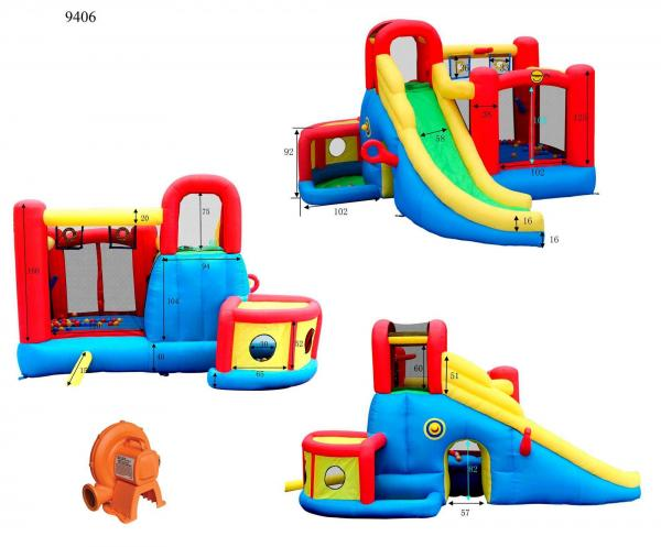Duplay Happy Hop Inflatable 11 in 1 Childrens Play Center 9406-6626
