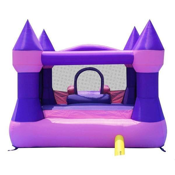 Duplay Happy Hop Inflatable Bounce 'n' Slide Pink Turret Bouncy Castle 9017P-4444
