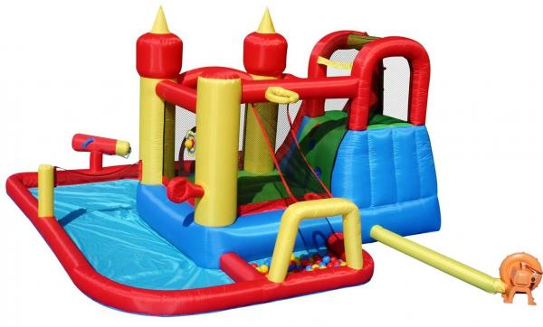 Duplay Happy Hop Inflatable Jump and Splash Funland Inflatable Waterslide 9016-5210