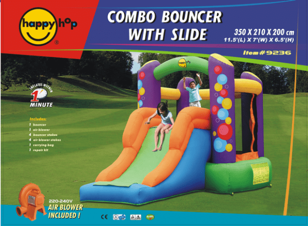 Duplay Happy Hop Children's Inflatable Combo Party Bouncy Castle 9236-4352