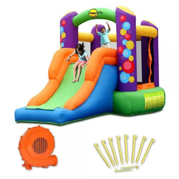 Duplay Happy Hop Children's Inflatable Combo Party Bouncy Castle 9236-4354
