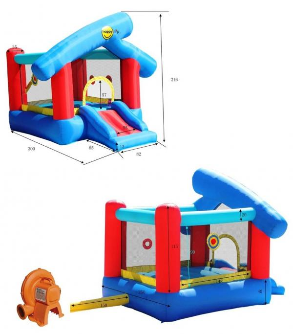 Duplay Happy Hop Inflatable 6 in 1 Inflatable Play Land 9111-4478
