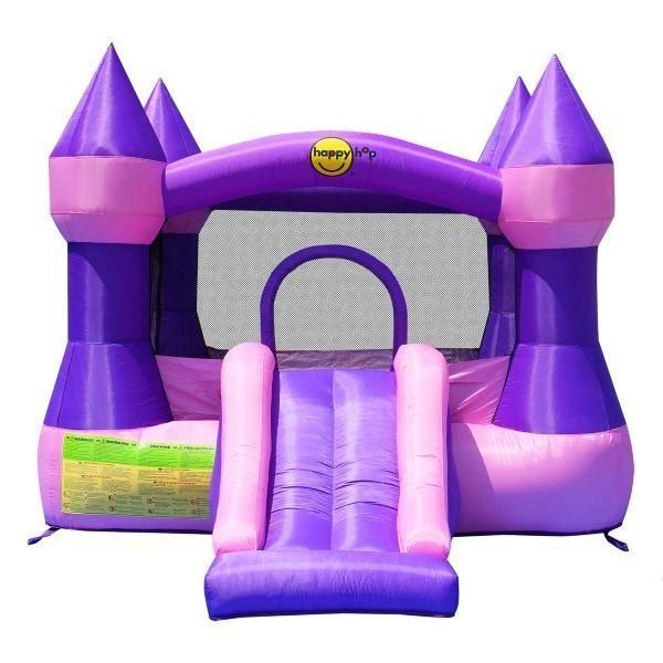 Duplay Happy Hop Inflatable Bounce 'n' Slide Pink Turret Bouncy Castle 9017P-4447