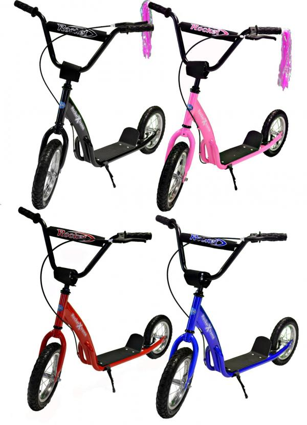 Rocket Xtreme BMX Style Scooter Red-3009