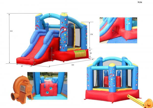 Duplay Happy Hop Inflatable Ultimate Combo Bouncy Castle and Slide 9136-4530