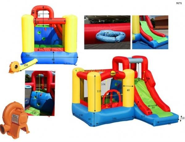 Duplay Happy Hop Inflatable Adventure Zone Bouncy Castle 9171-4499