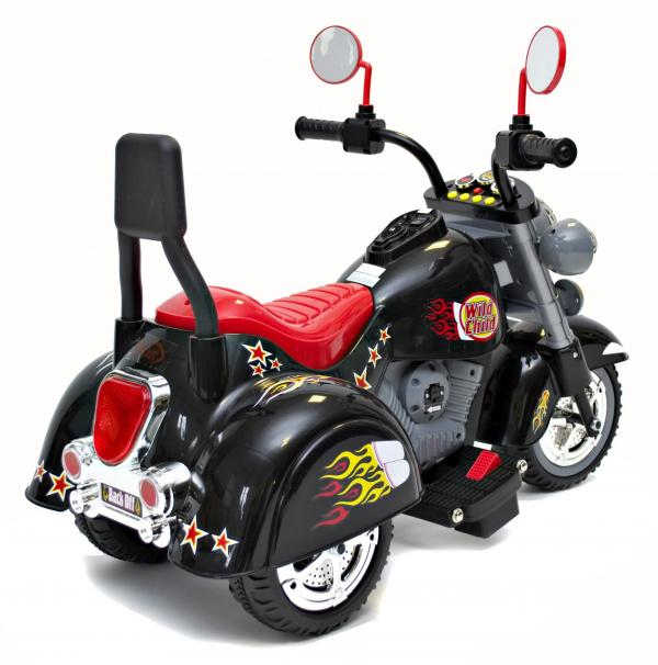 Kids Rocket 6v Electric Mini Harley Wild Child Ride On Motorbike - Black-3158