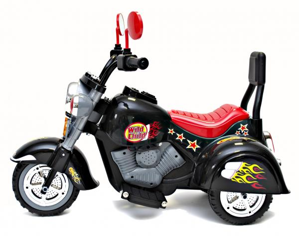 Kids Rocket 6v Electric Mini Harley Wild Child Ride On Motorbike - Black-3157