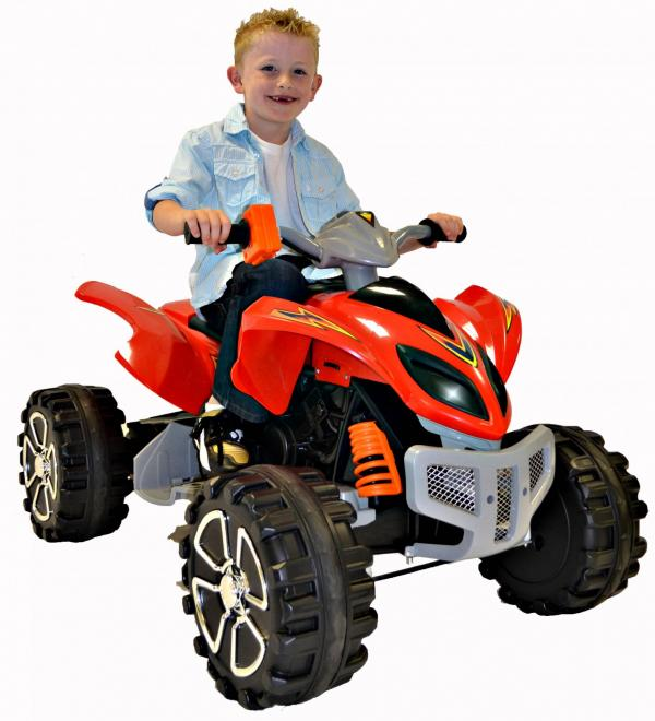 Kids Rocket Raptor Extreme 12v Ride On Electric Quad - Red-0