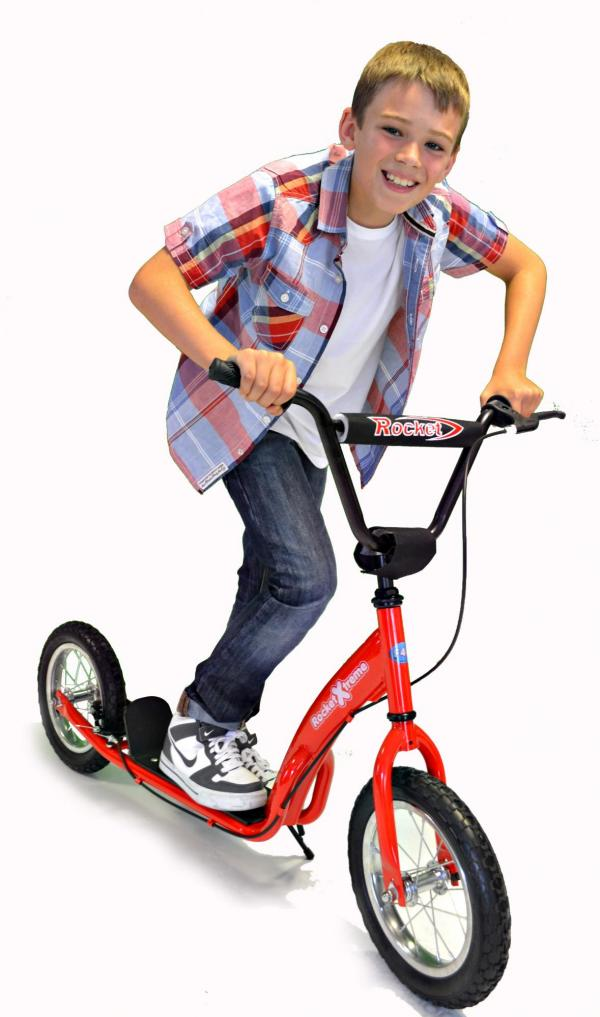 Rocket Xtreme BMX Style Scooter Red-0