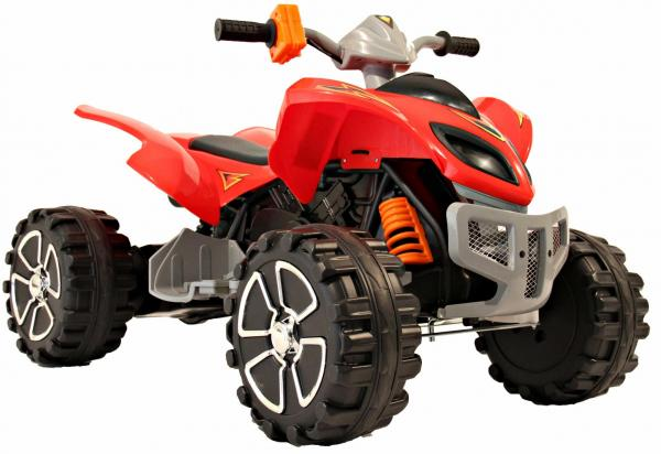 Kids Rocket Raptor Extreme 12v Ride On Electric Quad - Red-3400