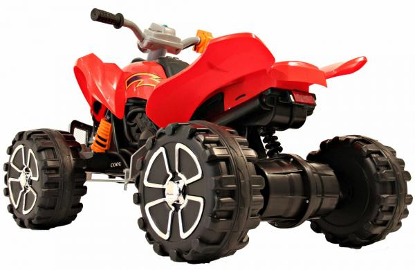 Kids Rocket Raptor Extreme 12v Ride On Electric Quad - Red-3399
