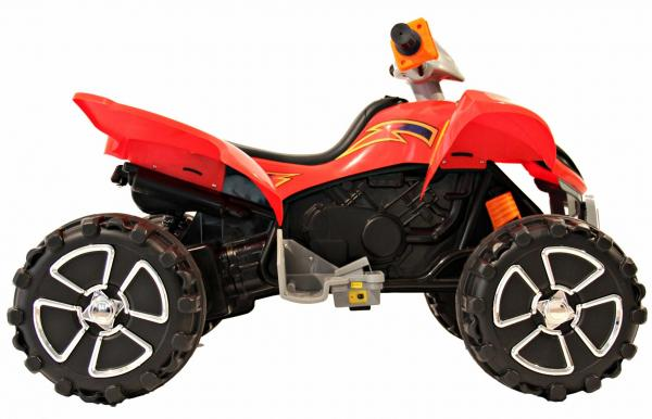 Kids Rocket Raptor Extreme 12v Ride On Electric Quad - Red-3396