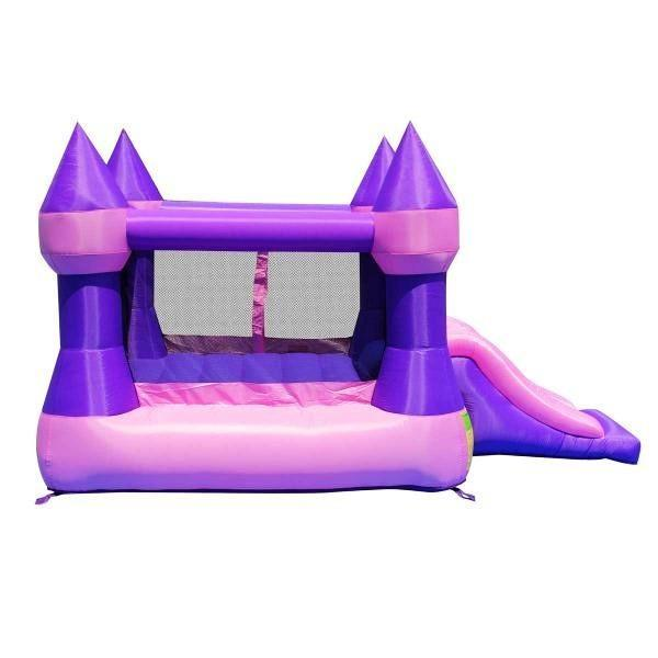 Duplay Happy Hop Inflatable Bounce 'n' Slide Pink Turret Bouncy Castle 9017P-4446