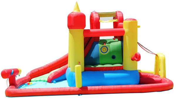 Duplay Happy Hop Inflatable Jump and Splash Funland Inflatable Waterslide 9016-5213