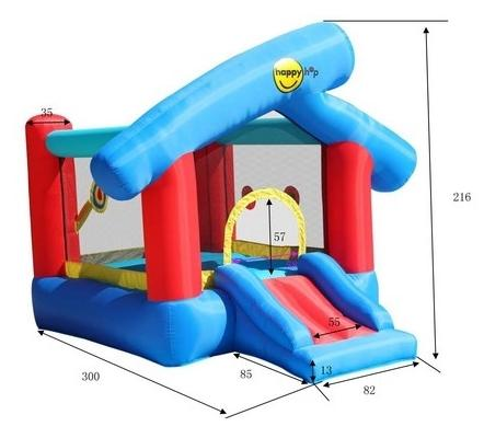 Duplay Happy Hop Inflatable 6 in 1 Inflatable Play Land 9111-4480