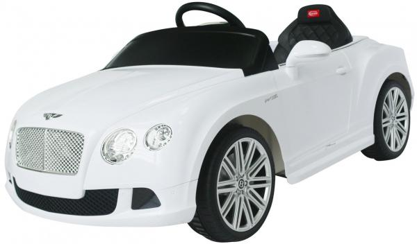 Kids Bentley Continental GT - Licensed 12v Electric Ride on Car - White-3702