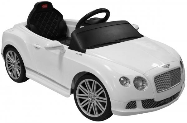 Kids Bentley Continental GT - Licensed 12v Electric Ride on Car - White-0