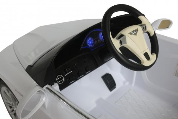 Kids Bentley Continental GT - Licensed 12v Electric Ride on Car - White-3701