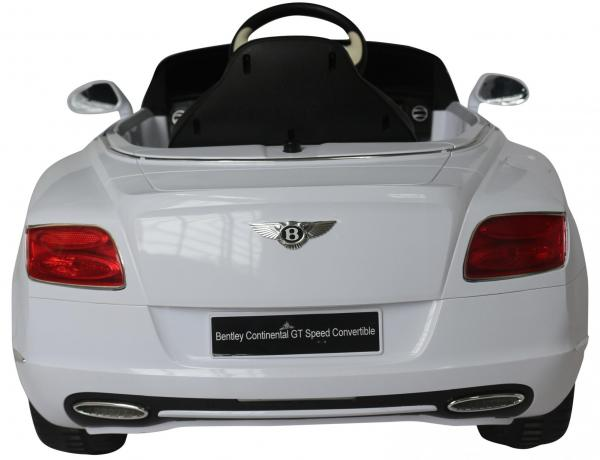 Kids Bentley Continental GT - Licensed 12v Electric Ride on Car - White-3700