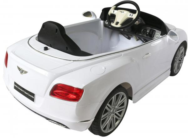 Kids Bentley Continental GT - Licensed 12v Electric Ride on Car - White-3699