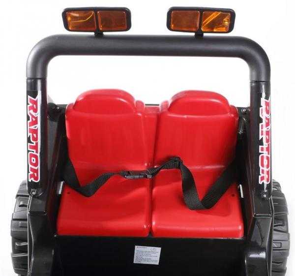 Kids 2 Seater 12v Electric / Battery Ride on Electric Jeep 4x4 Black-7048